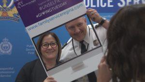CEO, Shellie Pociuk and Regina Police Chief, Evan Bray